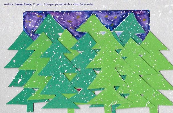 Tapušas jaunas Ziemassvētku kartītes
