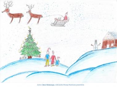 Ziemassvētku kartiņas 2019 Jānis Mežaraups Raiskuma pamatskola