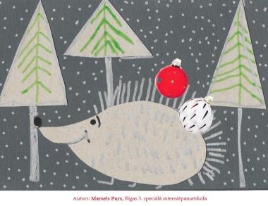Ziemassvētku kartiņas 2019 Marsels Purs Rīgas 5
