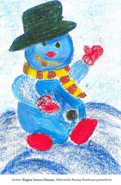 Ziemassvētku kartiņas 2019 Raiskuma pamatskola Regīna Sonora Sīmane