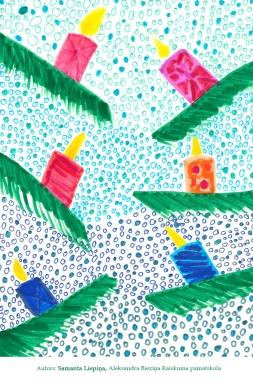 Ziemassvētku kartiņas 2019 Samanta Liepiņa Raiskuma pamatskola