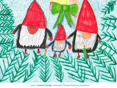 Ziemassvētku kartiņas 2019 Samanta Spuļģe Raiskuma pamatskola