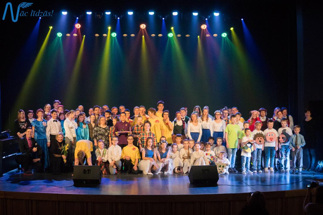 XXIII Integratīvā mākslas festivāla Nāc līdzās izvirzītie labākie priekšnesumi uz Rīgas Lielkoncertu