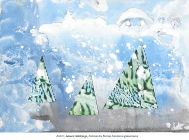 Ziemassvētku kartiņas 2019 Aivars Grīnbergs Raiskuma pamatskola