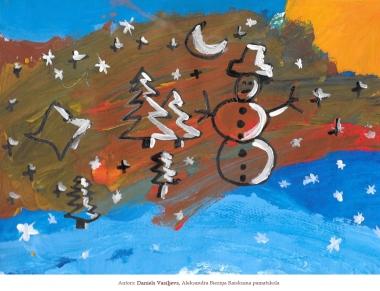 Ziemassvētku kartiņas 2019 Daniels Vasiļjevs Raiskuma pamatskola