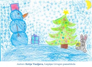 Ziemassvētku kartiņas 2019 Ketija Vasiļjeva Liepājas Līvupes pamatskola