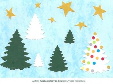 Ziemassvētku kartiņas 2019 Kristians Radvils Liepājas Līvupes pamatskola