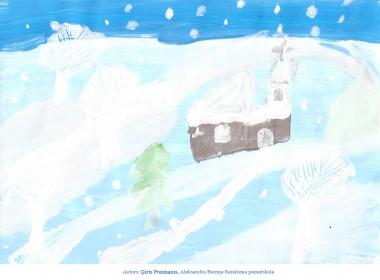 Ziemassvētku kartiņas 2019 Ģirts Preimanis Raiskuma pamatskola